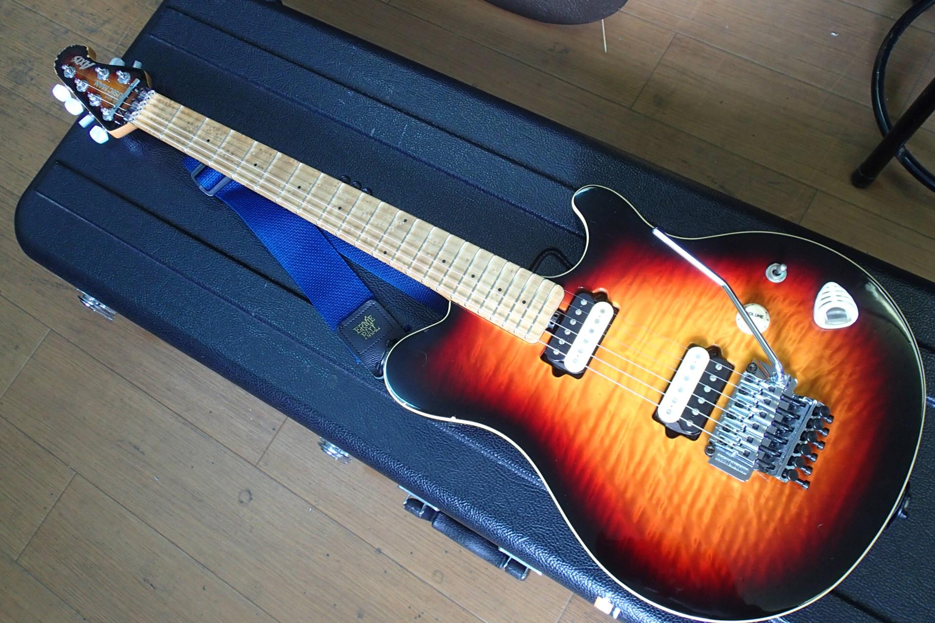 豊中のギター工房『Tone Garage』さんに『MUSIC MAN Axis』のフレットを打ち替えてもらった