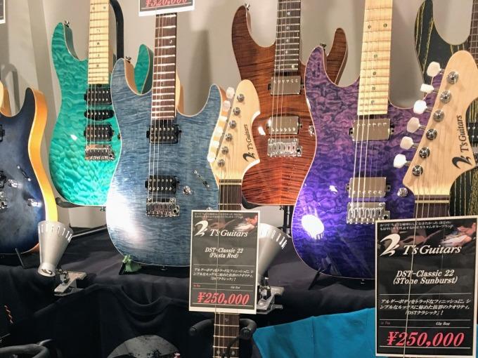 『ギタークリスマスOSAKA2017』で『T's Guitars』のギターを試奏してきた