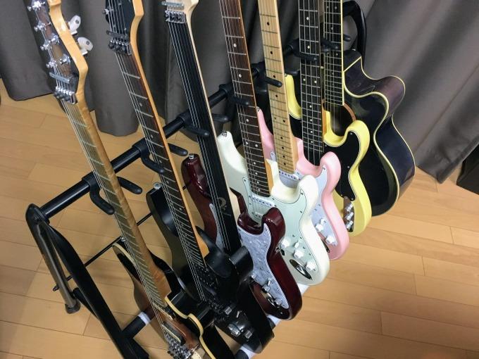 HERCULESのギタースタンドを拡張して7本立てにしてみた