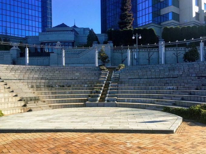 水の広場公園のカスケード