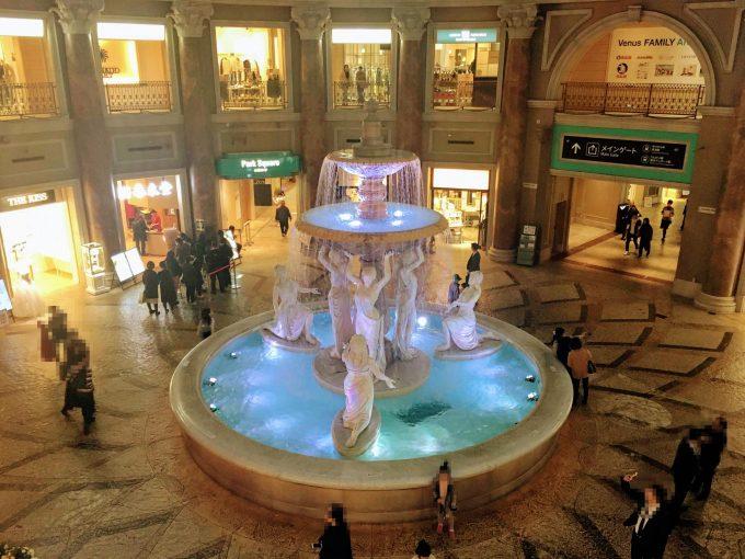 Venus Fortの噴水広場