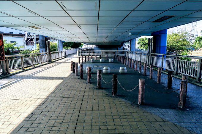 舟渡大橋の歩道