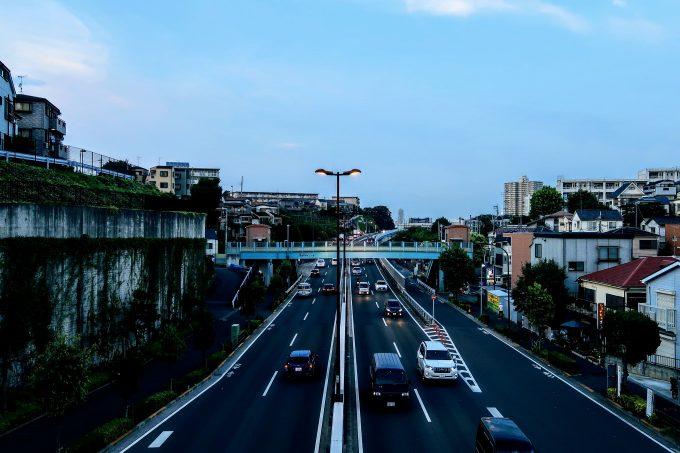 若木の歩道橋から見える景色