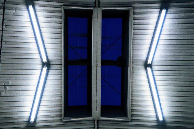 北町アーケード・ショッピングセンターの天井