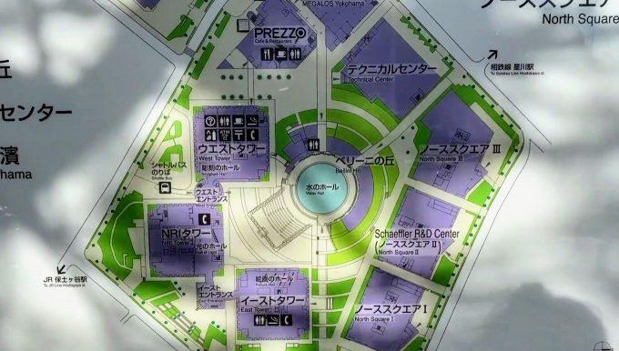 横浜ビジネスパ-クのマップ