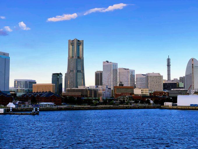 横浜港大さん橋国際客船ターミナルから見た景色