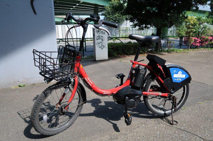 東京自転車シェアリングで借りれる電動自転車